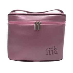 frasqueira térmica rosa metalizada f01