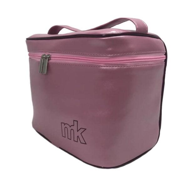 frasqueira térmica rosa metalizada f02
